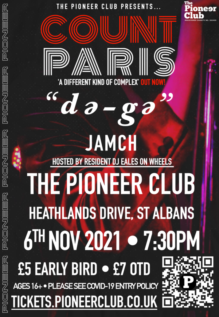 Poster for Count Paris at The Pioneer Club